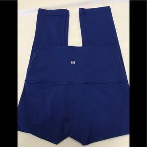 Lululemon Pants Royal Blue Wunder Under 3/4 6.